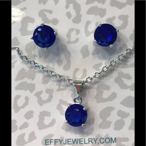 a7ef2e1a8 Effy Jewelry Faux Sapphire Earring Necklace Set. M_5ae33f03077b9713efae4f88